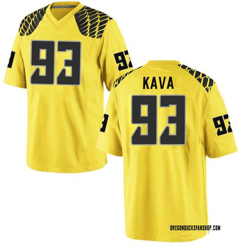 Men's Nike Sione Kava Oregon Ducks Replica Gold Football College Jersey
