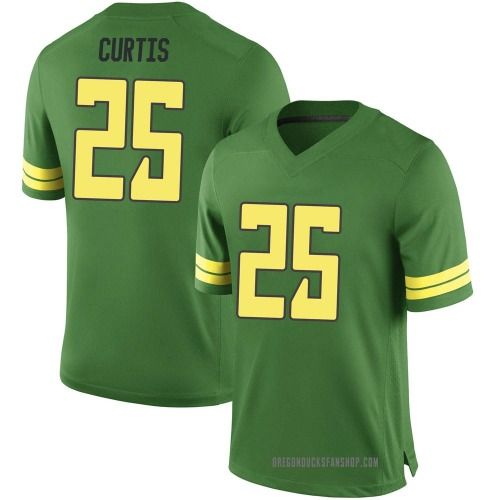 Men's Nike Spencer Curtis Oregon Ducks Game Green Football College Jersey