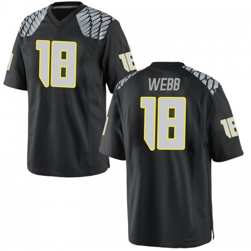 Men's Nike Spencer Webb Oregon Ducks Game Black Football College Jersey