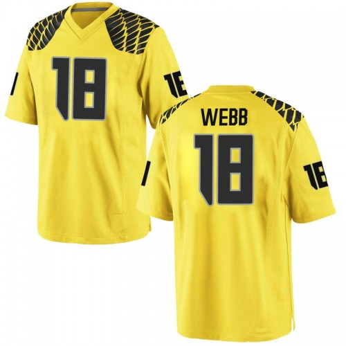 Men's Nike Spencer Webb Oregon Ducks Game Gold Football College Jersey