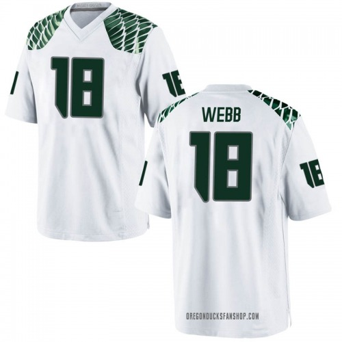 Men's Nike Spencer Webb Oregon Ducks Game White Football College Jersey