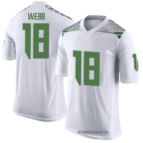 Men's Nike Spencer Webb Oregon Ducks Limited White Football College Jersey