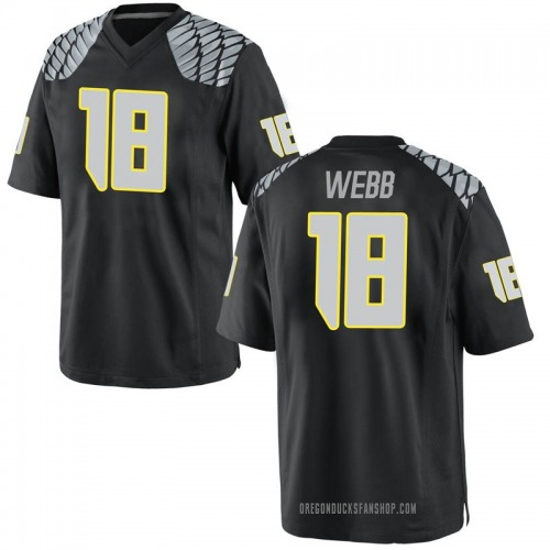Men's Nike Spencer Webb Oregon Ducks Replica Black Football College Jersey