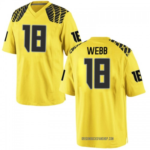 Men's Nike Spencer Webb Oregon Ducks Replica Gold Football College Jersey
