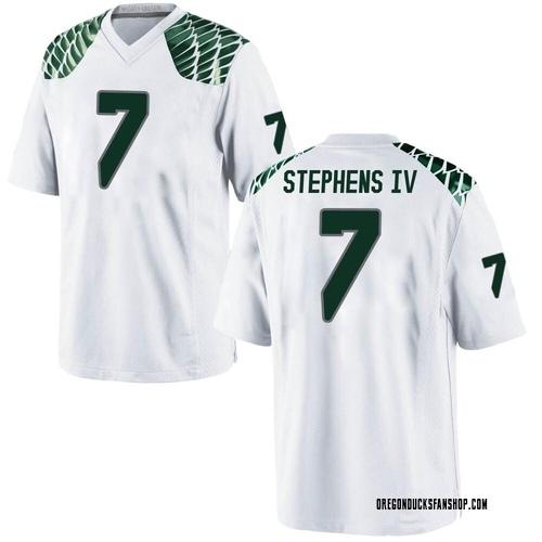 Men's Nike Steve Stephens IV Oregon Ducks Game White Football College Jersey
