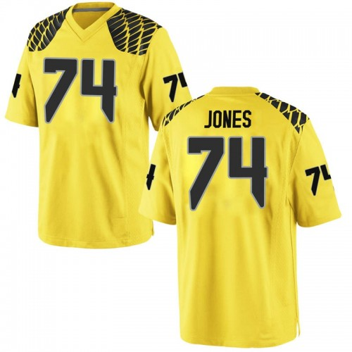 Men's Nike Steven Jones Oregon Ducks Game Gold Football College Jersey