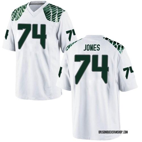 Men's Nike Steven Jones Oregon Ducks Game White Football College Jersey