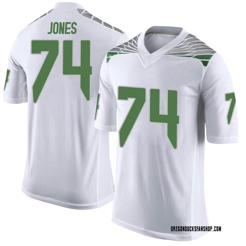 Men's Nike Steven Jones Oregon Ducks Limited White Football College Jersey