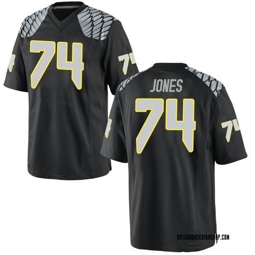 Men's Nike Steven Jones Oregon Ducks Replica Black Football College Jersey