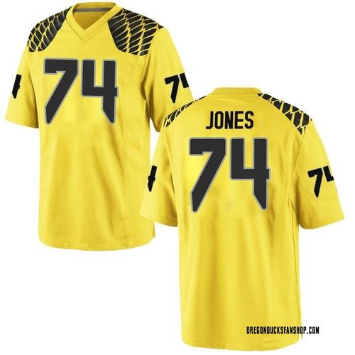 Men's Nike Steven Jones Oregon Ducks Replica Gold Football College Jersey