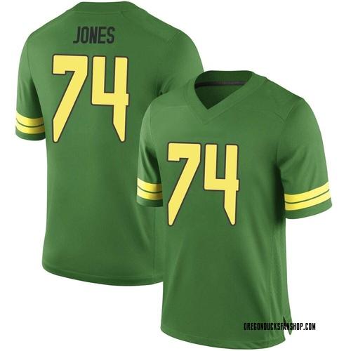 Men's Nike Steven Jones Oregon Ducks Replica Green Football College Jersey