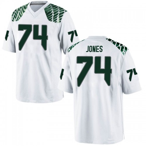 Men's Nike Steven Jones Oregon Ducks Replica White Football College Jersey