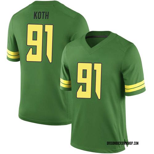 Men's Nike Taylor Koth Oregon Ducks Game Green Football College Jersey