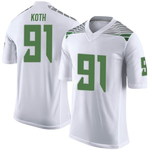 Men's Nike Taylor Koth Oregon Ducks Limited White Football College Jersey