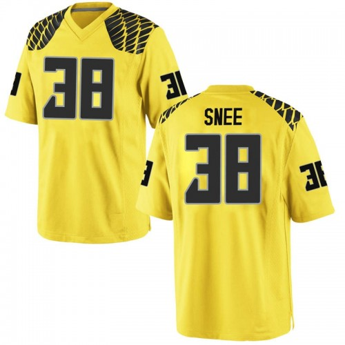 Men's Nike Tom Snee Oregon Ducks Game Gold Football College Jersey