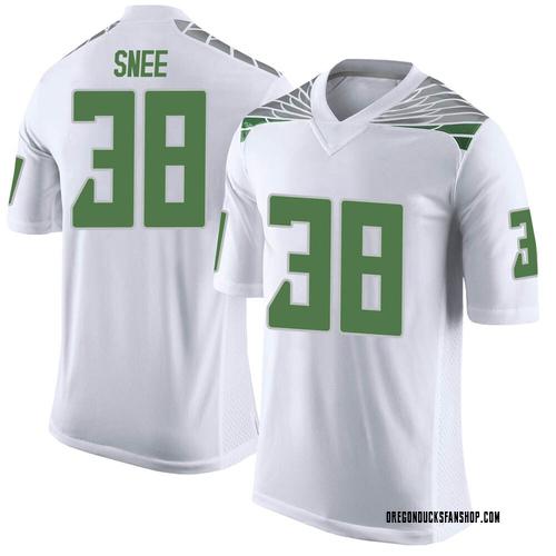 Men's Nike Tom Snee Oregon Ducks Limited White Football College Jersey