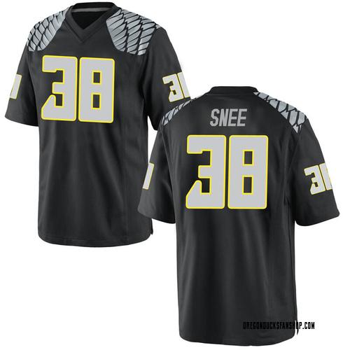 Men's Nike Tom Snee Oregon Ducks Replica Black Football College Jersey