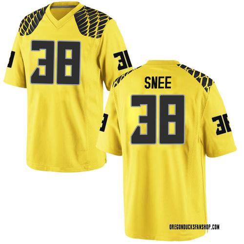Men's Nike Tom Snee Oregon Ducks Replica Gold Football College Jersey