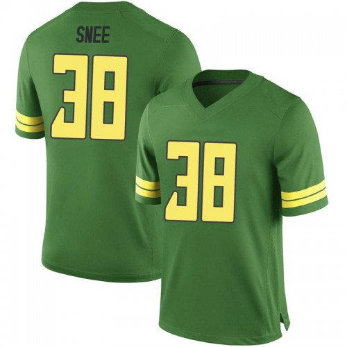 Men's Nike Tom Snee Oregon Ducks Replica Green Football College Jersey