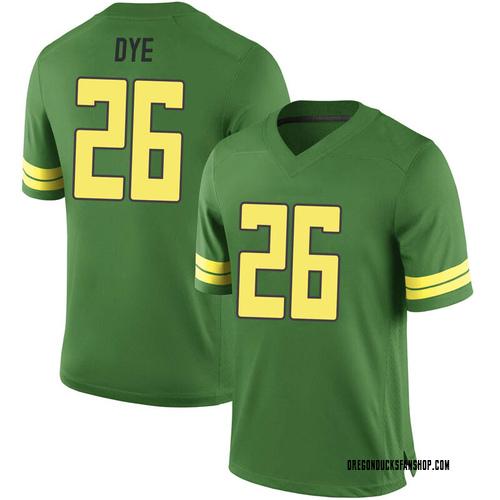 Men's Nike Travis Dye Oregon Ducks Game Green Football College Jersey
