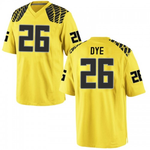 Men's Nike Travis Dye Oregon Ducks Replica Gold Football College Jersey