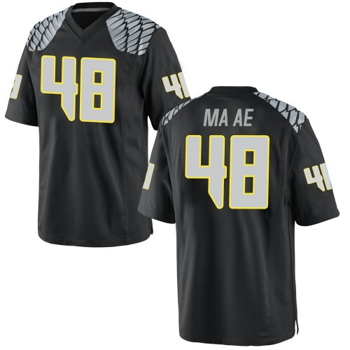 Men's Nike Treven Ma'ae Oregon Ducks Game Black Football College Jersey