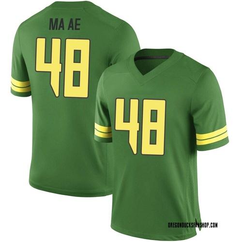 Men's Nike Treven Ma'ae Oregon Ducks Game Green Football College Jersey