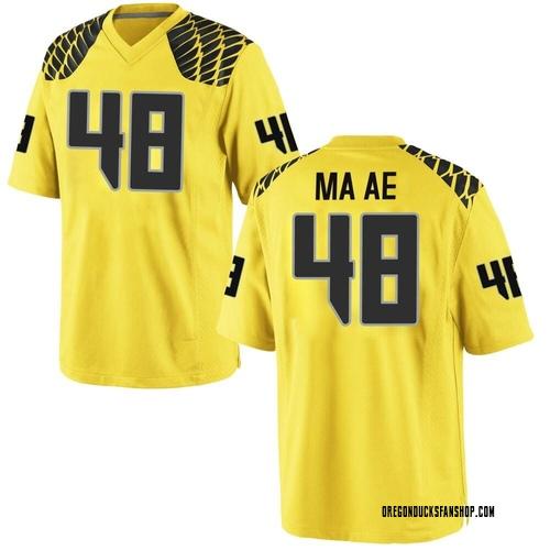 Men's Nike Treven Ma'ae Oregon Ducks Replica Gold Football College Jersey