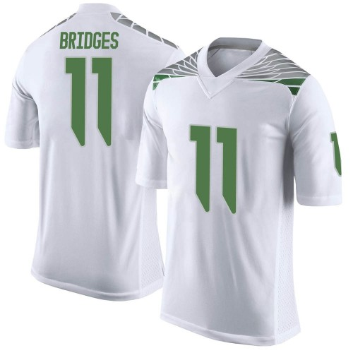 Men's Nike Trikweze Bridges Oregon Ducks Limited White Football College Jersey