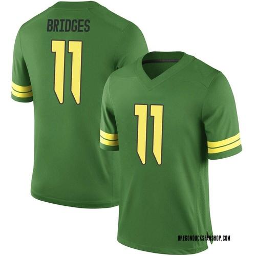Men's Nike Trikweze Bridges Oregon Ducks Replica Green Football College Jersey
