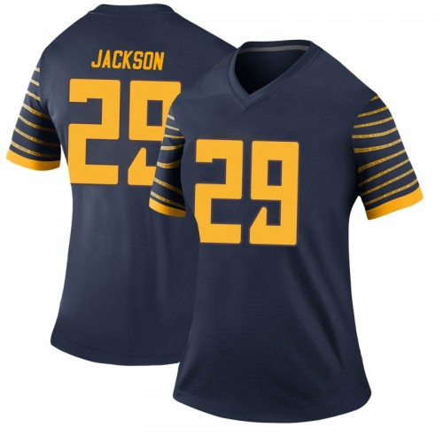 Women's Nike Adrian Jackson Oregon Ducks Legend Navy Football College Jersey