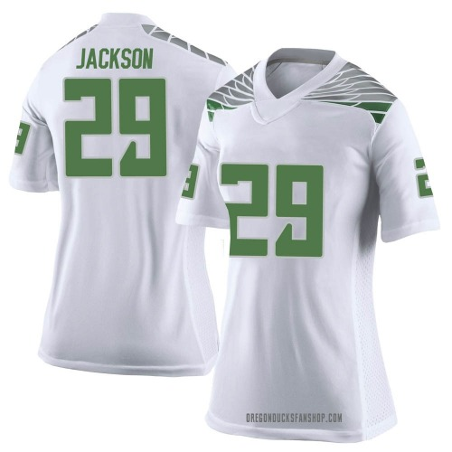 Women's Nike Adrian Jackson Oregon Ducks Limited White Football College Jersey