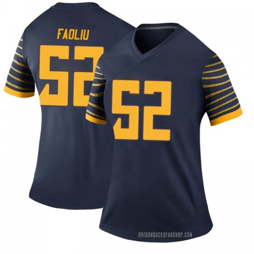 Women's Nike Andrew Faoliu Oregon Ducks Legend Navy Football College Jersey