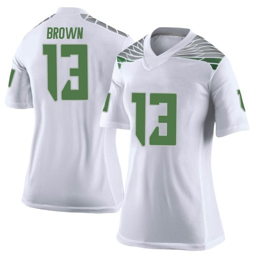 Women's Nike Anthony Brown Oregon Ducks Limited White Football College Jersey