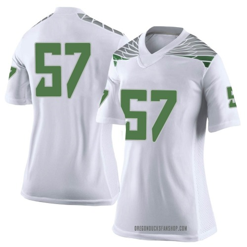 Women's Nike Ben Gomes Oregon Ducks Limited White Football College Jersey