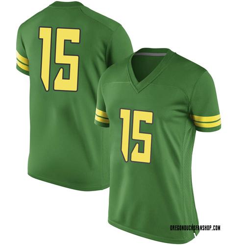 Women's Nike Bennett Williams Oregon Ducks Game Green Football College Jersey