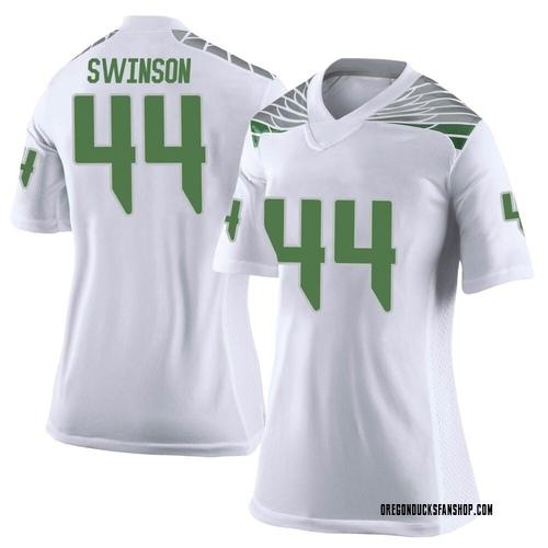 Women's Nike Bradyn Swinson Oregon Ducks Limited White Football College Jersey