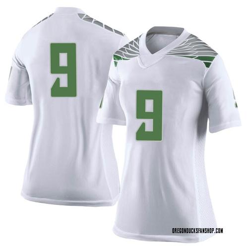 Women's Nike Brenden Schooler Oregon Ducks Limited White Football College Jersey