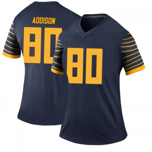 Women's Nike Bryan Addison Oregon Ducks Legend Navy Football College Jersey