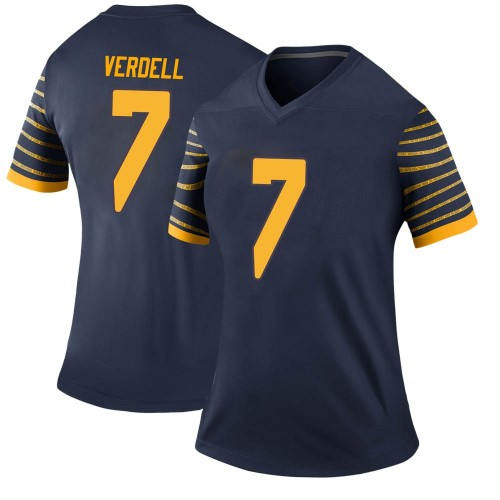 Women's Nike CJ Verdell Oregon Ducks Legend Navy Football College Jersey