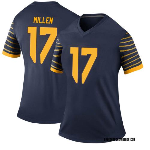 Women's Nike Cale Millen Oregon Ducks Legend Navy Football College Jersey