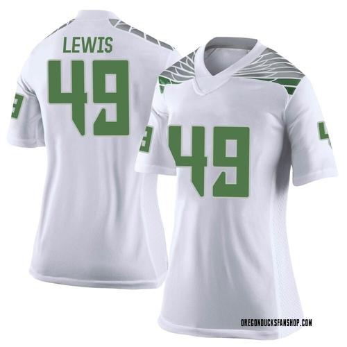 Women's Nike Camden Lewis Oregon Ducks Limited White Football College Jersey