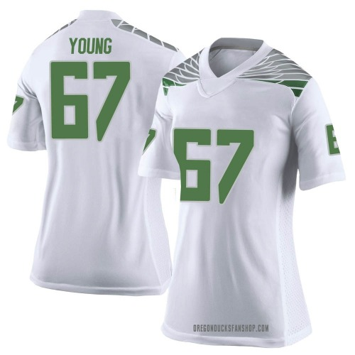 Women's Nike Cole Young Oregon Ducks Limited White Football College Jersey