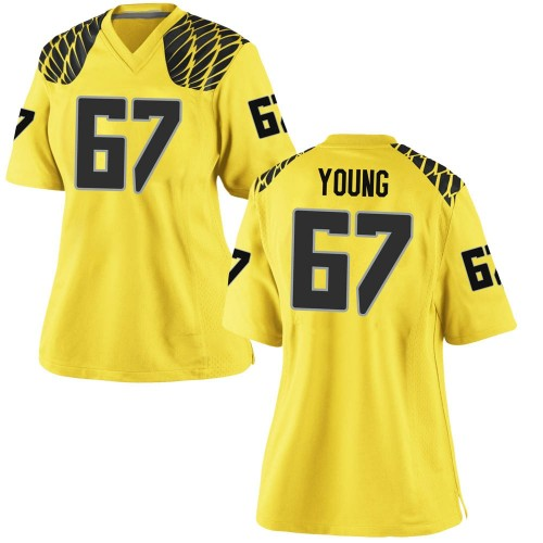 Women's Nike Cole Young Oregon Ducks Replica Gold Football College Jersey