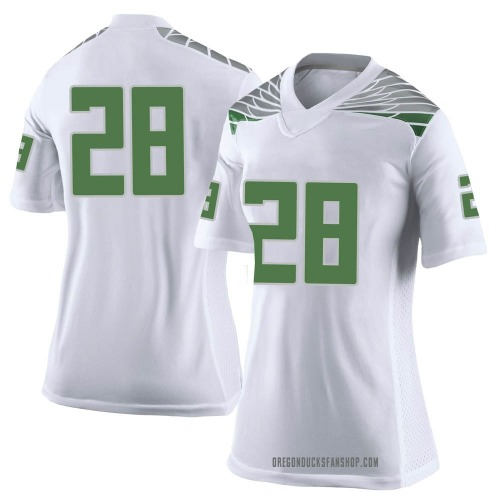 Women's Nike Cross Patton Oregon Ducks Limited White Football College Jersey