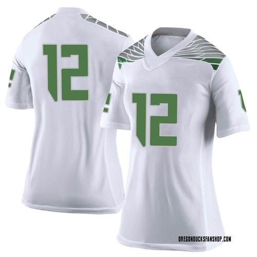 Women's Nike DJ James Oregon Ducks Limited White Football College Jersey