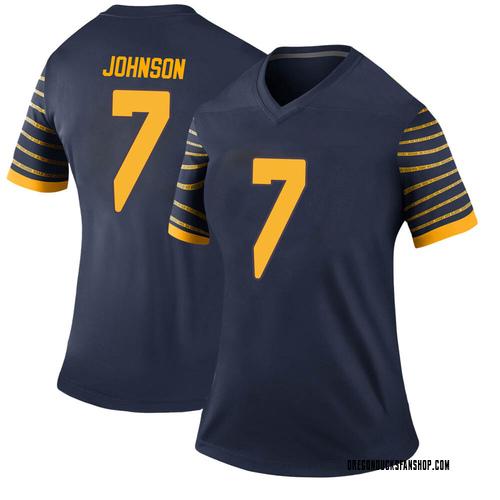 Women's Nike D.J. Johnson Oregon Ducks Legend Navy Football College Jersey