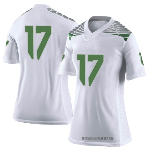 Women's Nike Daewood Davis Oregon Ducks Limited White Football College Jersey