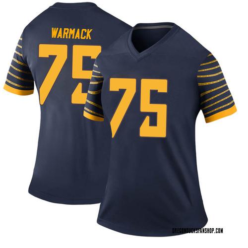 Women's Nike Dallas Warmack Oregon Ducks Legend Navy Football College Jersey