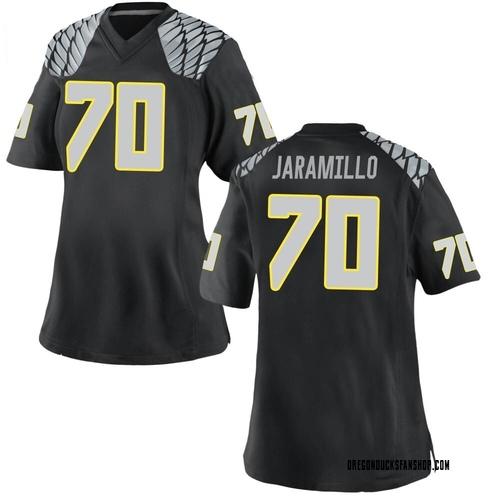 Women's Nike Dawson Jaramillo Oregon Ducks Game Black Football College Jersey